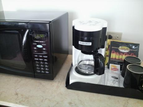 レンジとコーヒーメーカー