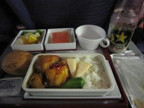 チャイナの機内食ー1
