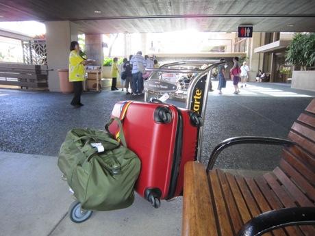 空港で待機中