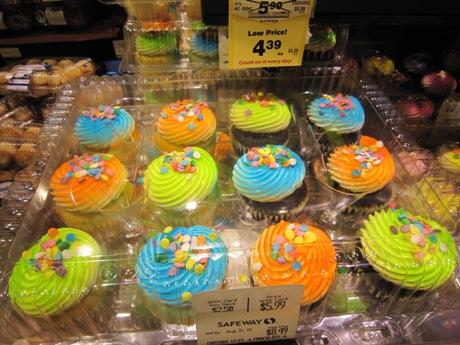 原色カップケーキ
