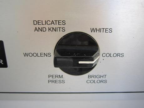 お好みの洗濯方法を選びます
