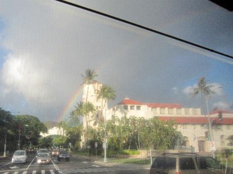 バスから虹が見えた