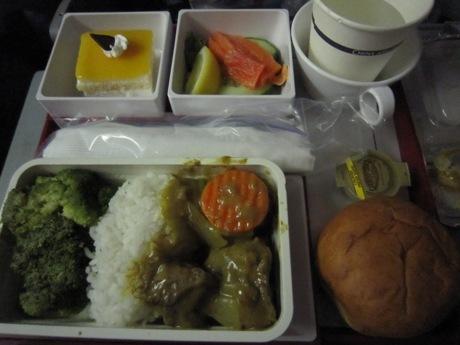 機内食、お昼ごはん