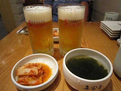 ビールとキムチ