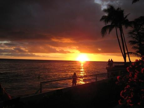 ハワイのサンセットー1