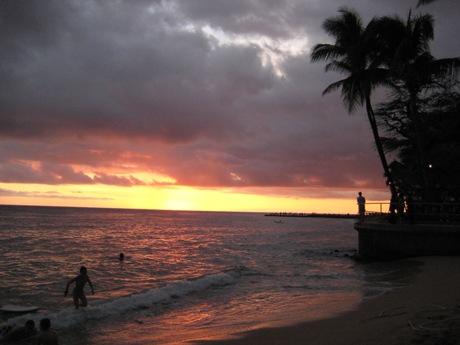 ハワイのサンセットー7