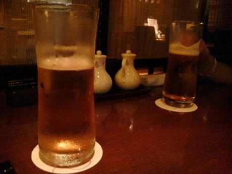 まず、ビール!