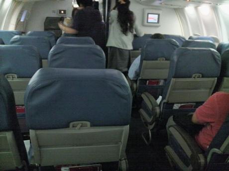 デルタの機内