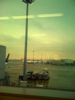 羽田空港。羽田からの空の写真