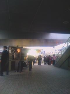 丸井下の喫煙場所
