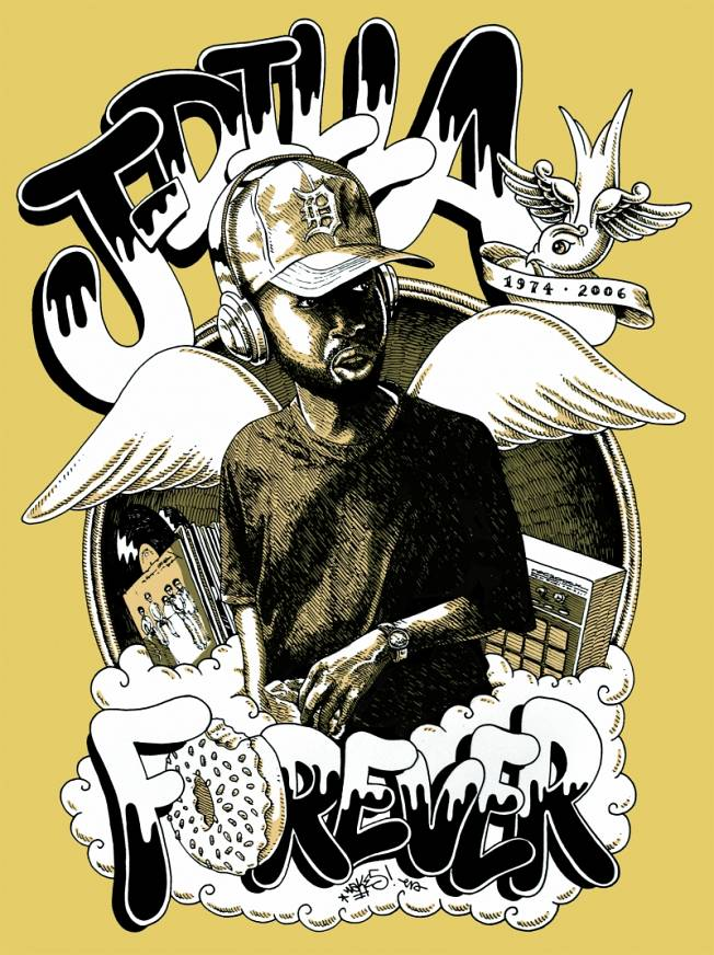 Official International J Dilla Tribute Art Contest2