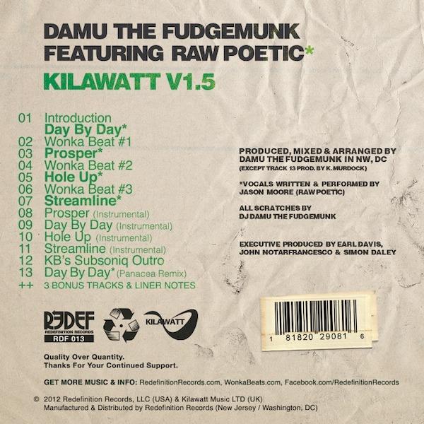 Damu The Fudgemonk and Raw Poetic - Kilawatt V1.5 (2012)2