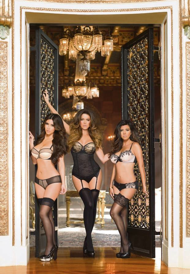 The Kardashians are posing in lingerie