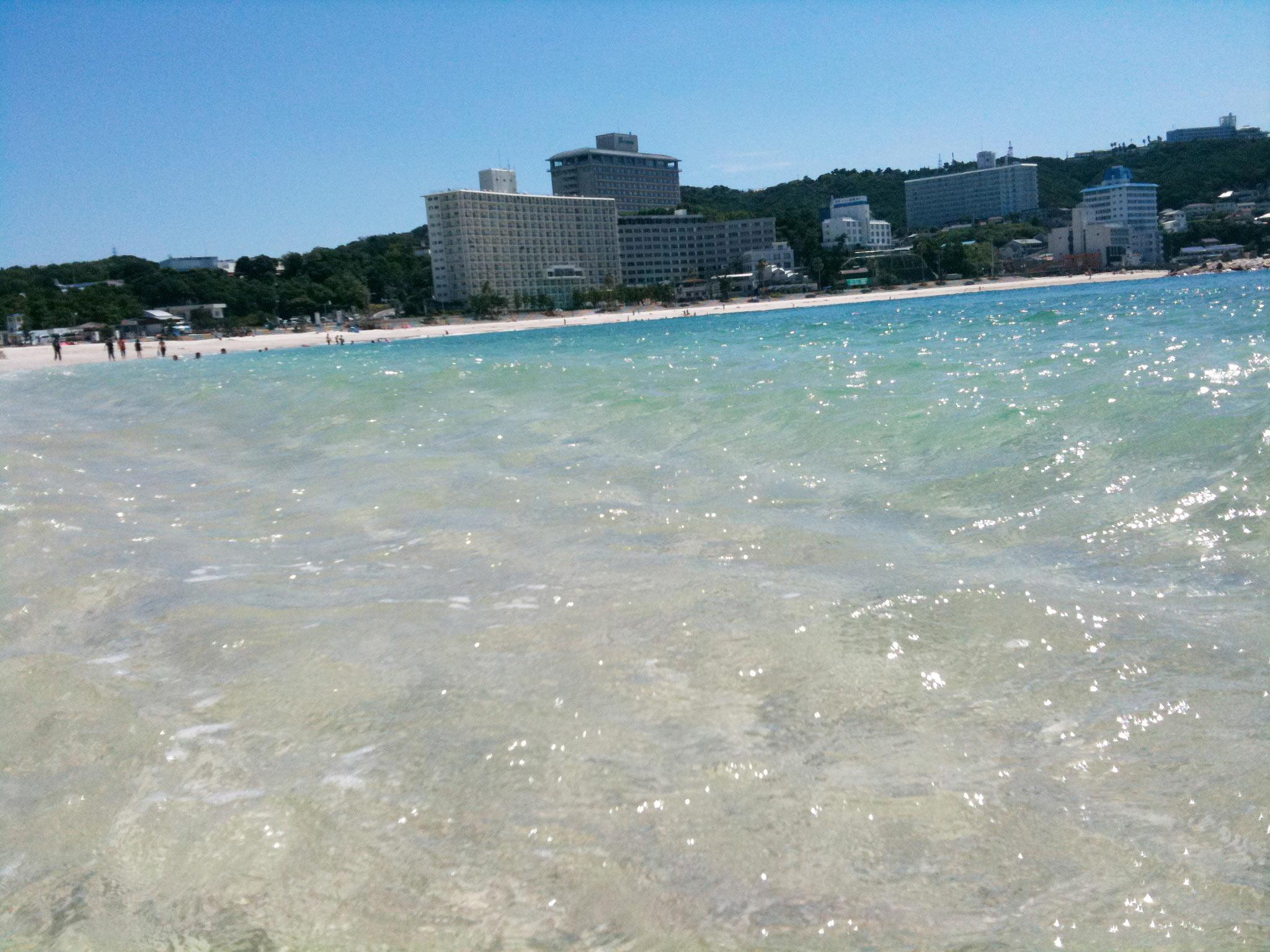白砂エメラルドな海....白浜