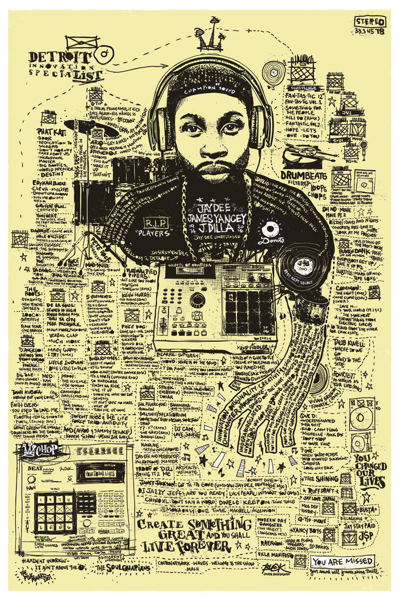 Official International J Dilla Tribute Art Contest1