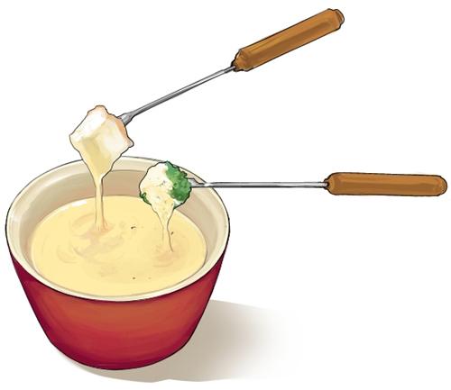 食:チーズフォンデュ小