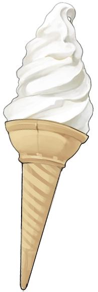 食:ソフトクリーム