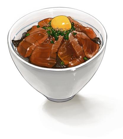 食:鉄火丼
