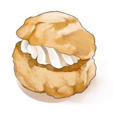 食:シュークリーム