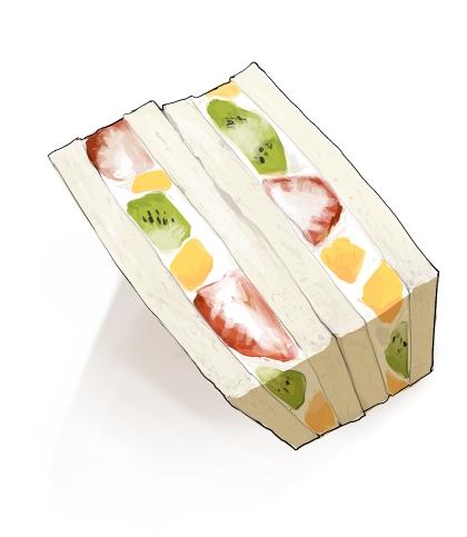 食:フルーツサンド