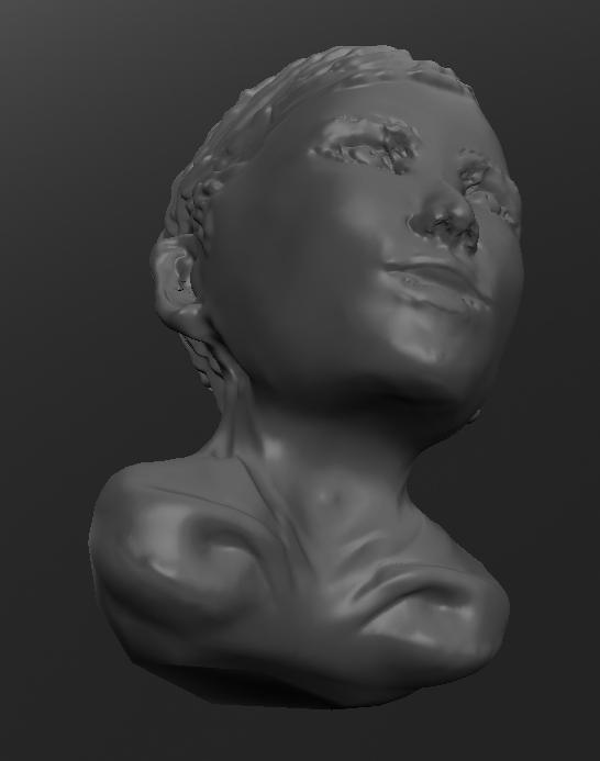 3D:女性ナナメ下から