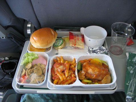 アリタリアの機内食