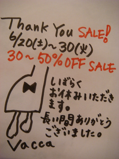 vacca thank you sale