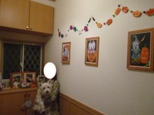 ハロウィン 玄関