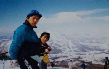 若かりしスキーヤー