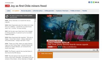 チリ救出BBC