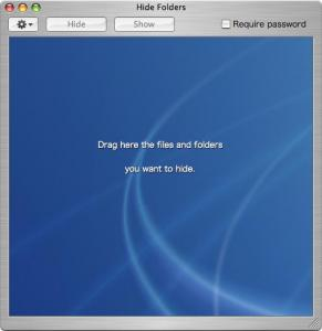 Hide Folderのウィンドウ