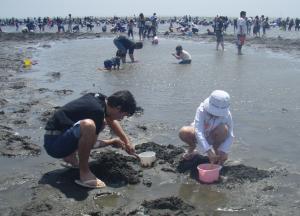 潮干狩り2009