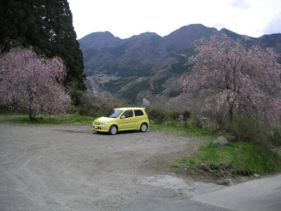 私の車と景色
