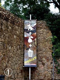 バルセロナ「グエル公園」のピクトグラムのぼり