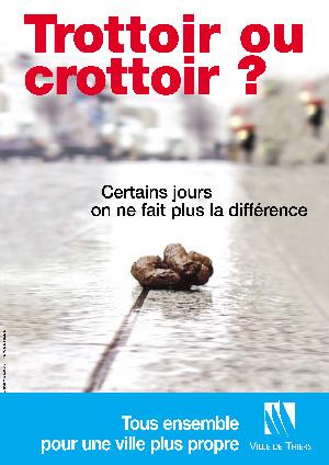 フランスのポスター「歩道?それとも糞道?」