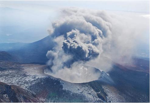 新燃岳噴火