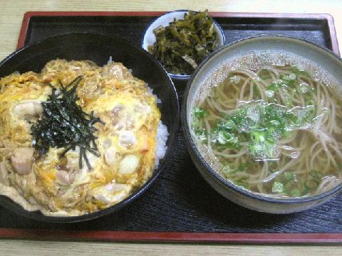 親子丼と蕎麦セット