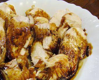 チキン蒸し焼き