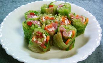 レタスのロールサラダ