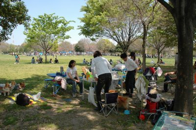 公園は、たくさんの人で大賑わい!!