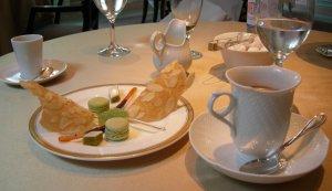食後の飲み物とお茶菓子