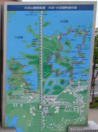 大沼公園の案内図