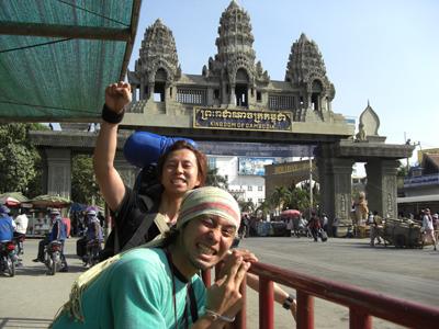 陸路国境横断するぜ!!向こう側はカンボジアだ!