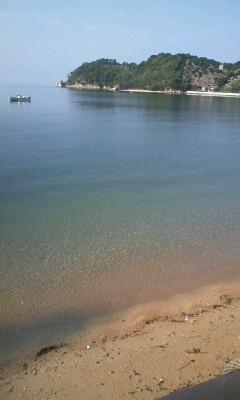 朝の浜辺 in 笹子島ビーチ