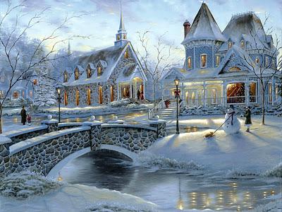 chrisytmas winter painting