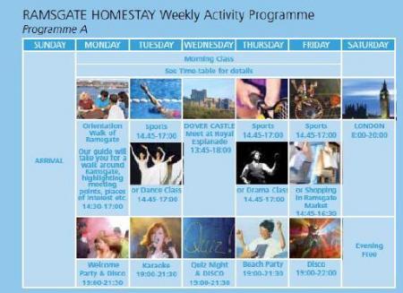 ch acitivity schedule