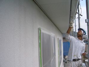 中塗り 雨樋
