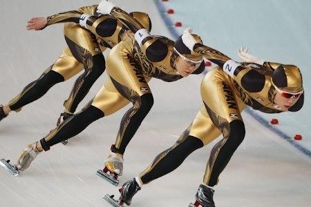 五輪・力走する日本チーム