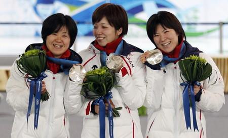 メダルセレモニーでの日本代表