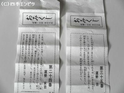 大宮 氷川神社 みくじ